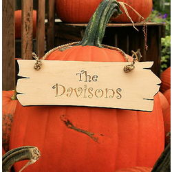 Personalized Pumpkin Sign