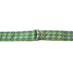 Green Argyle Fabric Belt