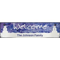 Personalized Winter Welcome Wall Sign
