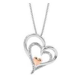 I Am Loved Heart Shaped Pendant