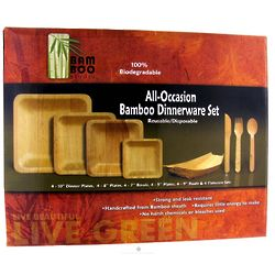 Reusable Bamboo Dinnerware Set