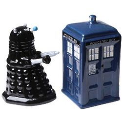 Doctor Who Tardis vs. Dalek Salt & Pepper Shakers