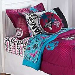Camp Rock Front Row Twin Sheet Set