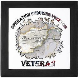 Operation Enduring Freedom Veteran Keepsake Tile Box
