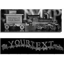 Personalized Pewter Trains