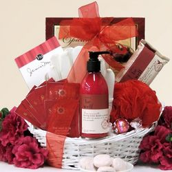 Pomegranate Bath and Body Spa Gift Basket