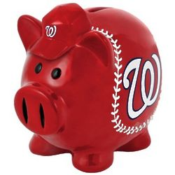 Washington Nationals Large Piggy Bank