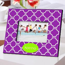 Personalized Purple Lattice Picture Frame