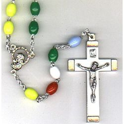 Multi-Color Oval Quad Link Rosary