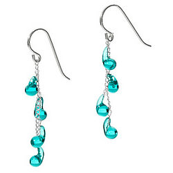 Teal Droplet Earrings
