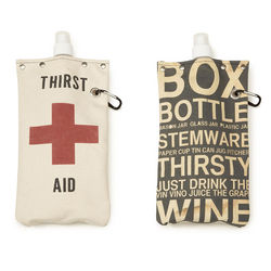Silk Screened Wine And Beverage Tote Bag