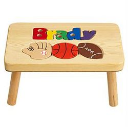 Sports Design Personalized Puzzle Step Stool