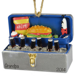 Personalized Tackle Box Cooler Fishing Ornament