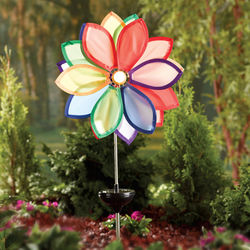 Solar-Powered Flower Spinner