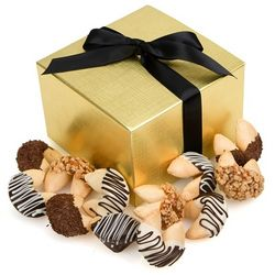 Hand-Dipped Gourmet Fortune Cookies Gift Box