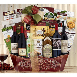 Sommelier's Wine and Champagne Gift Basket