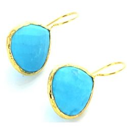Turquoise Pear Shaped Earrings