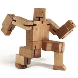 Cubebot Wooden Brainteaser Puzzle