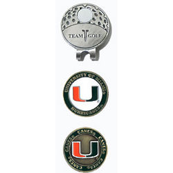 Miami Hurricanes Golf Ball Marker Hat Clip
