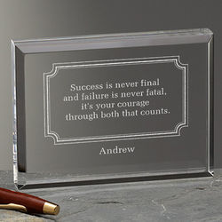 Engraved Inspirational Quotes Personalized Plaque