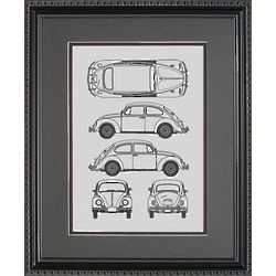 Volkswagen 11x14 Framed Blueprint