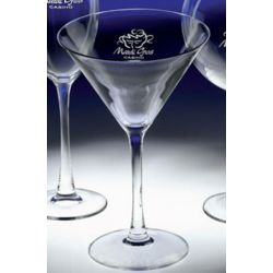 Personalized Crystal Martini Glasses