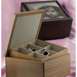 Personalized Wood Photo Jewelry Box