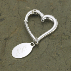 Personalized Contemporary Silver Plated Key Ring
