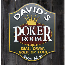 Personalized All In Poker Room Sign