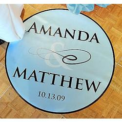 Flourish Wedding Dance Floor Decal