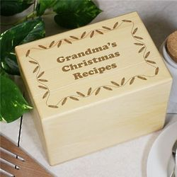 Personalized Christmas Recipe Box