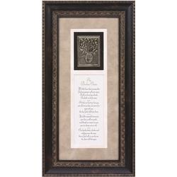 The Broken Chain Framed Sympathy Verse with Metal Accent