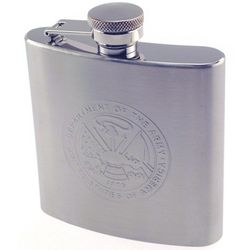 Engraved Army Stainless Steel Flask