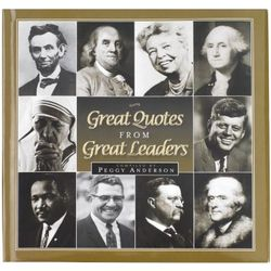 Great Quotes from Great Leaders Book with DVD
