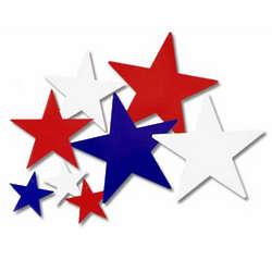Assorted Patriotic Star Cutouts