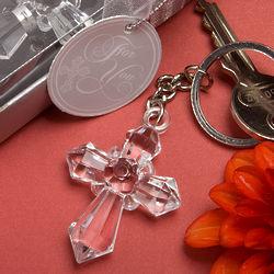 Sparkling Cross Keychain