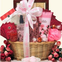 Cherry Blossom Spa Retreat Birthday Spa Gift Basket