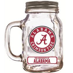 Alabama Crimson Tide Mason Jar