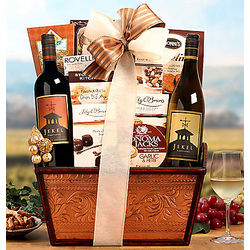 Jekel Vineyards California Wine and Snack Basket