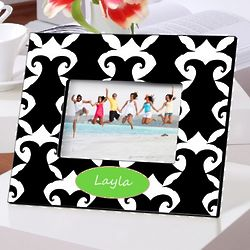Personalized Damask Picture Frame