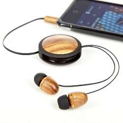 No-Tangle Zebrawood Earbuds