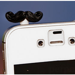 Mustache Phone Charm