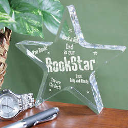 Personalized Rock Star Plaque
