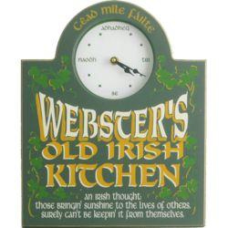 Personalized Irish Kitchen Clock