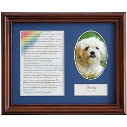 Personalized Rainbow Bridge Male Pet Frame