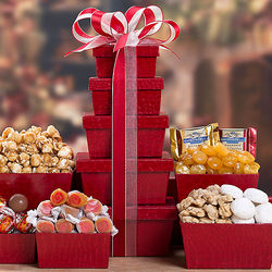 Gift Tower of Cookies, Chocolate and Sweets
