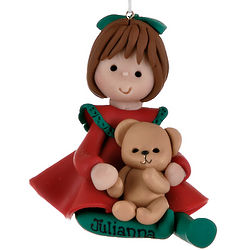 Personalized Girl Christmas Ornament