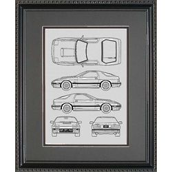 Mazda 11x14 Framed Blueprint