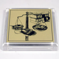Scale of Justice Legal Paperweight