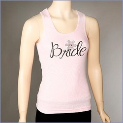 'Bride' Daisy Ribbed Tank Top
